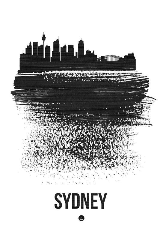 Sydney Skyline Brush Stroke Acrylic Print