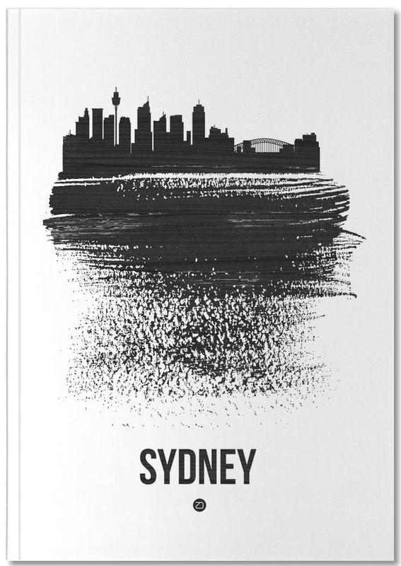 Sydney Skyline Brush Stroke Notebook