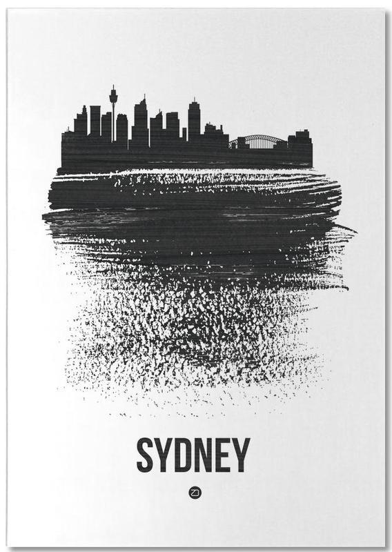 Sydney Skyline Brush Stroke Notepad