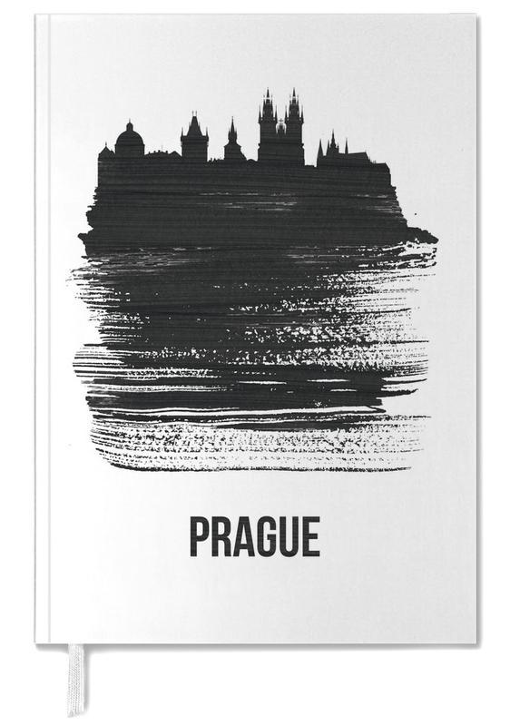 Prague Skyline Brush Stroke Personal Planner