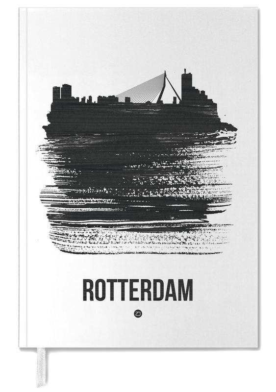 Rotterdam Skyline Brush Stroke -Terminplaner
