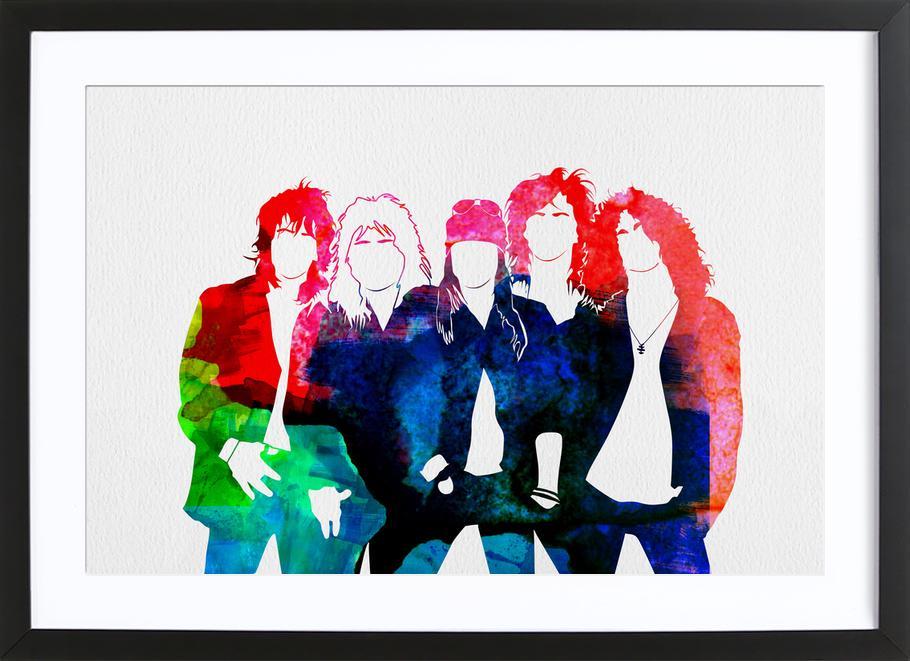 Guns N' Roses -Bild mit Holzrahmen