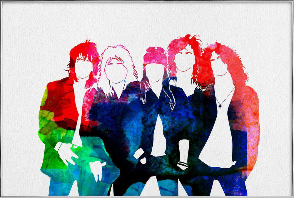 Guns N' Roses poster in aluminium lijst