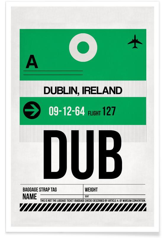 Cartes de villes, Dublin, Dublin affiche
