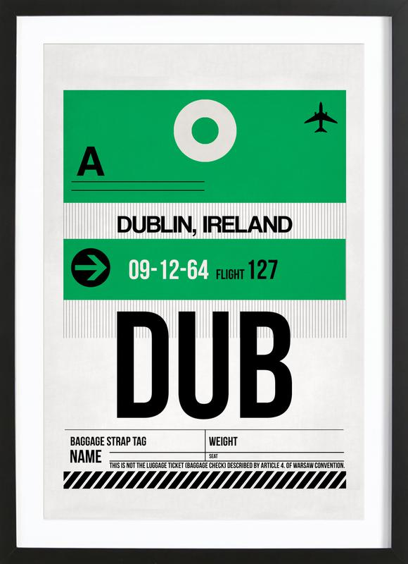 Dublin -Bild mit Holzrahmen