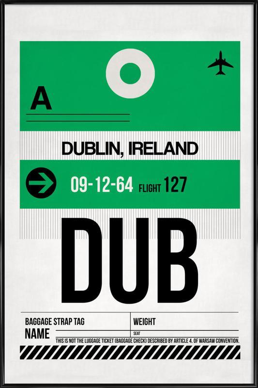 Dublin -Bild mit Kunststoffrahmen