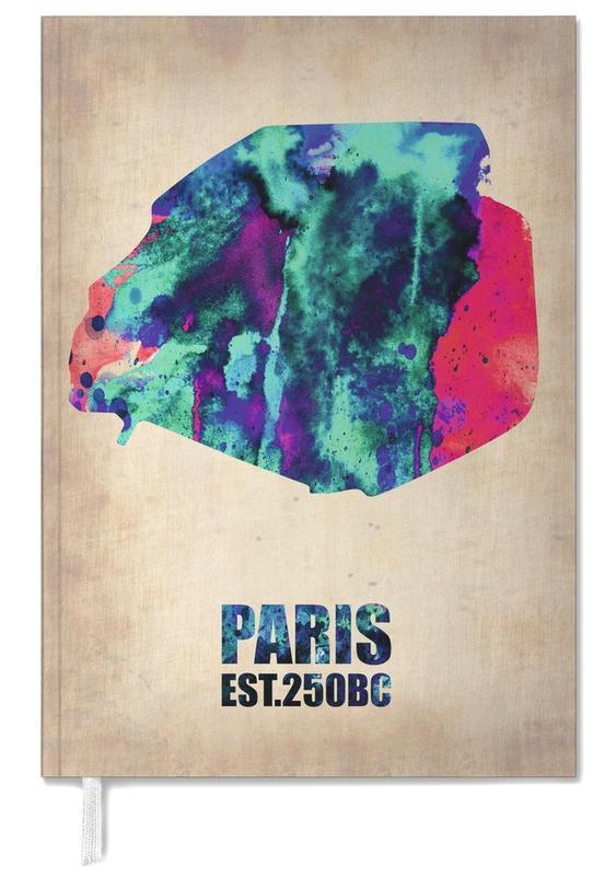 Paris Watercolor Map -Terminplaner