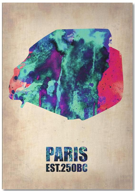 Paris Watercolor Map Notepad