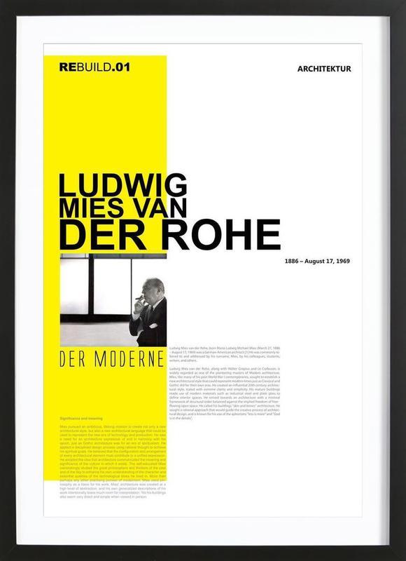 Mies Van Der Rohe -Bild mit Holzrahmen