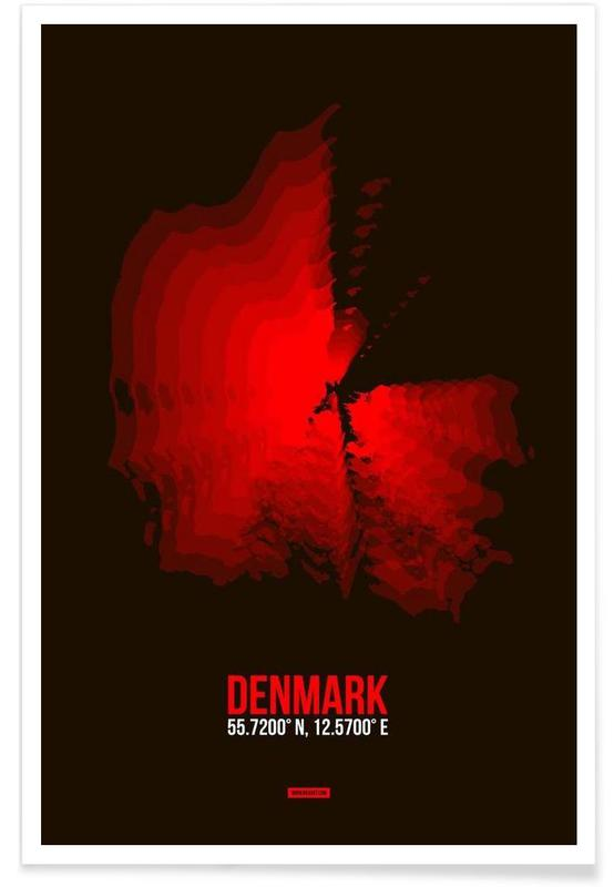 Denmark Radiant Map -Poster