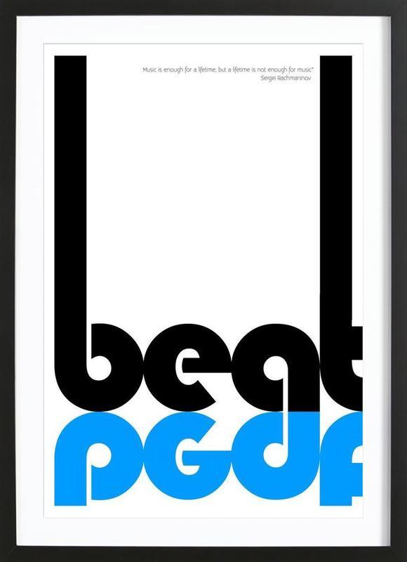 Beat -Bild mit Holzrahmen