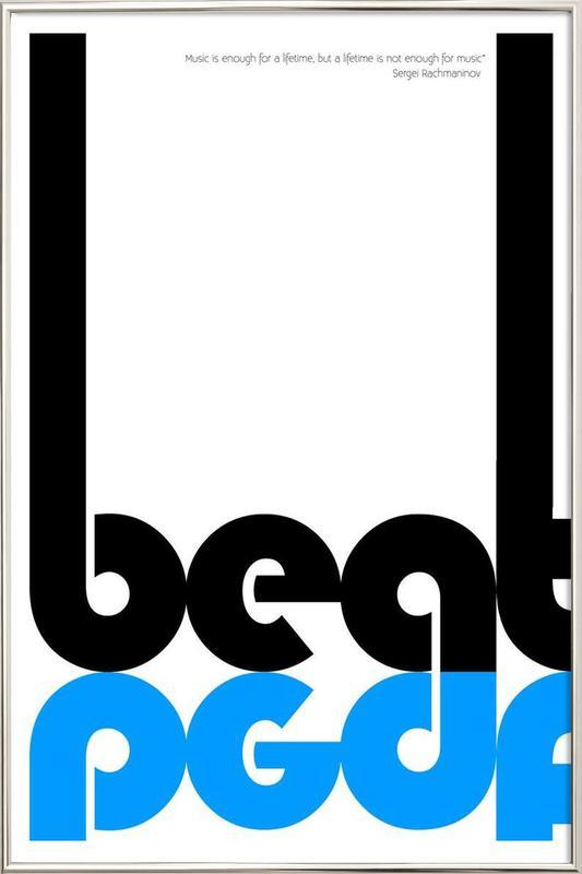 Beat poster in aluminium lijst