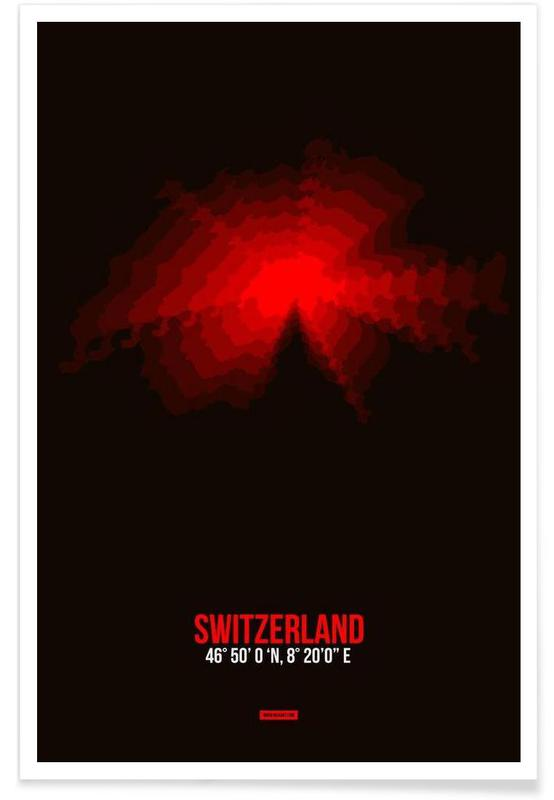 Switzerland Radiant Map poster