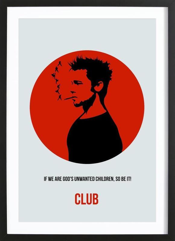 Club Poster 2 -Bild mit Holzrahmen