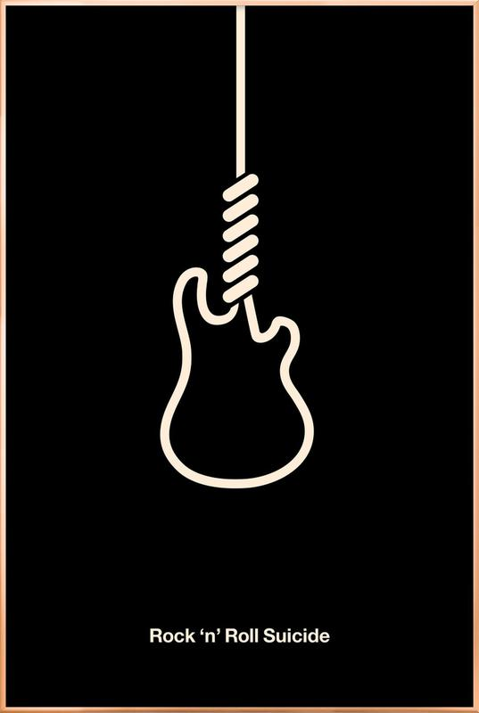 Rock 'n' Roll Suicide Poster in Aluminium Frame