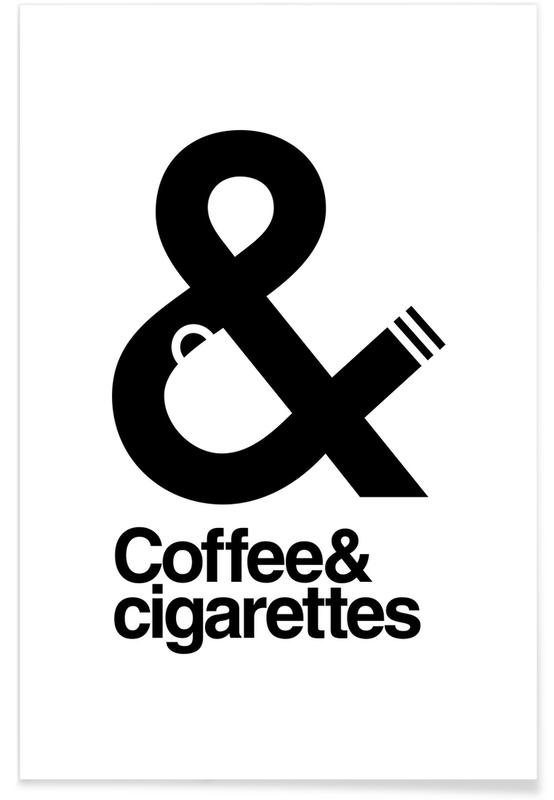 Humour, Noir & blanc, Coffee And Cigarettes 01 affiche