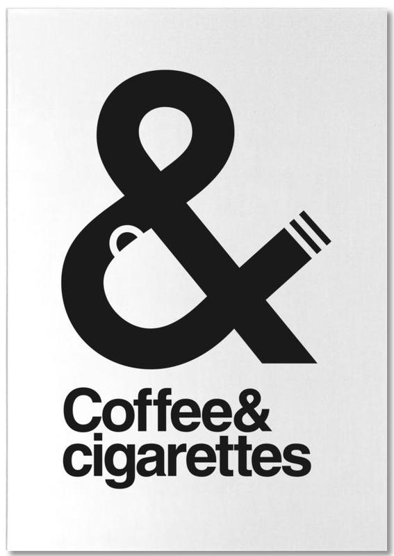 Funny, Black & White, Coffee And Cigarettes 01 Notepad