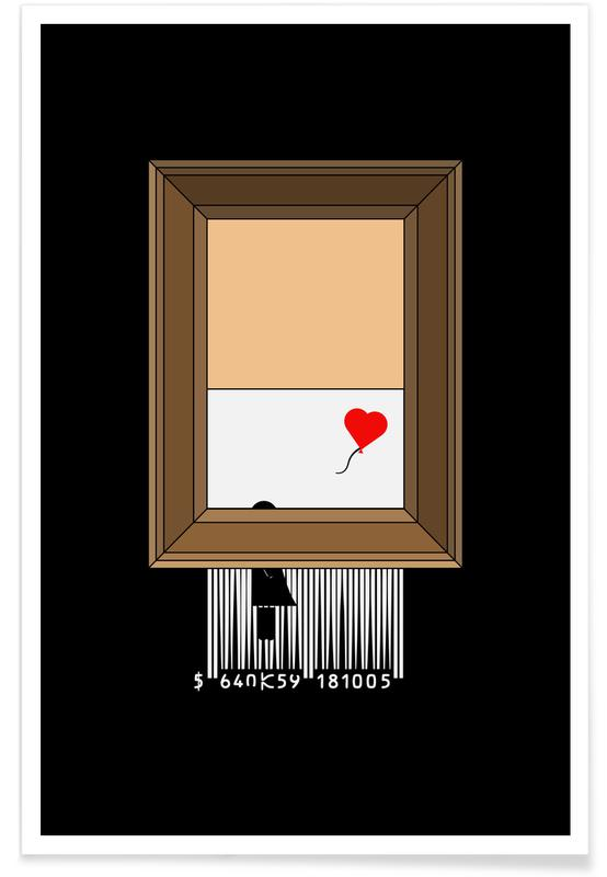 Humour, Banksy Shredding affiche