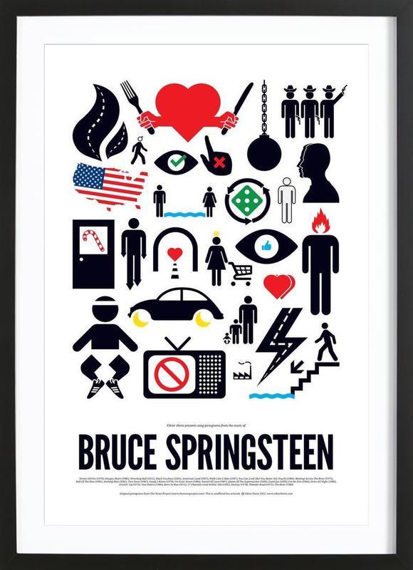 Bruce Springsteen ingelijste print