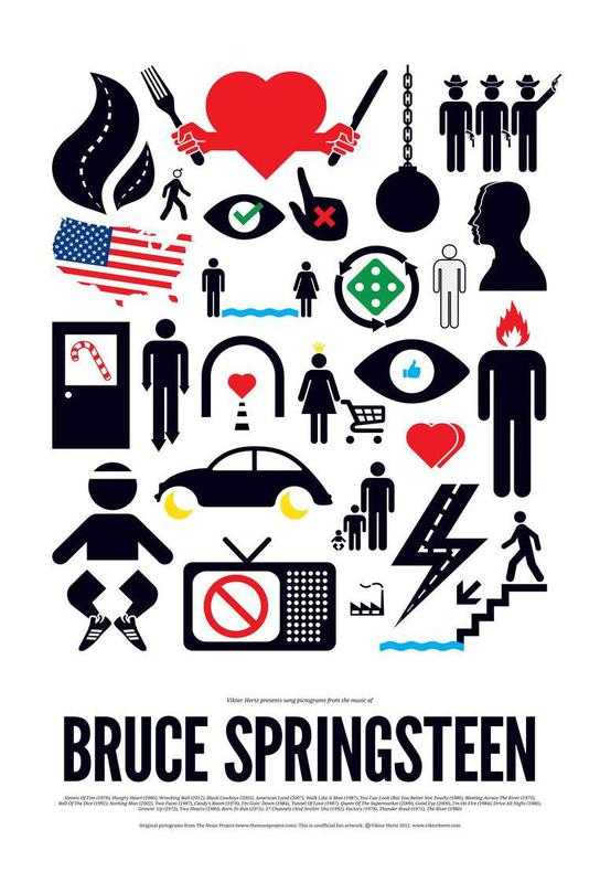 Bruce Springsteen -Acrylglasbild