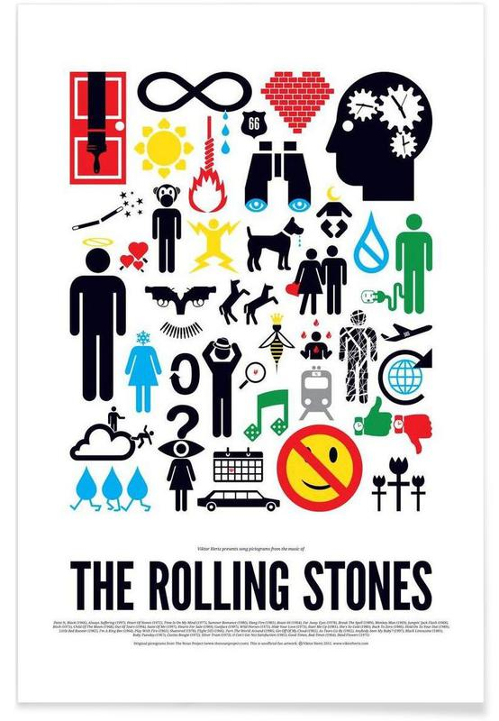 Rock, The Rolling Stones affiche