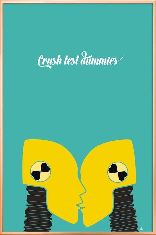 Crush test dummies Poster in Aluminium Frame