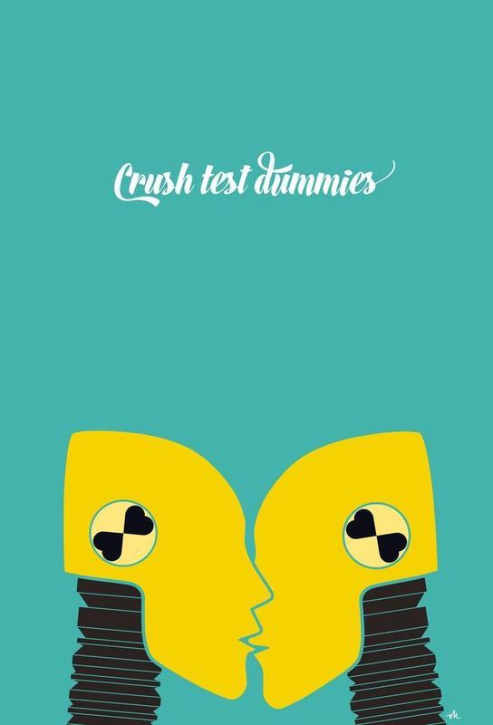 Crush test dummies Aluminium Print