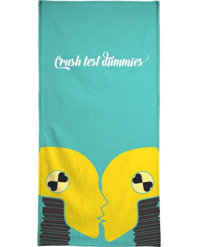 Crush test dummies Bath Towel