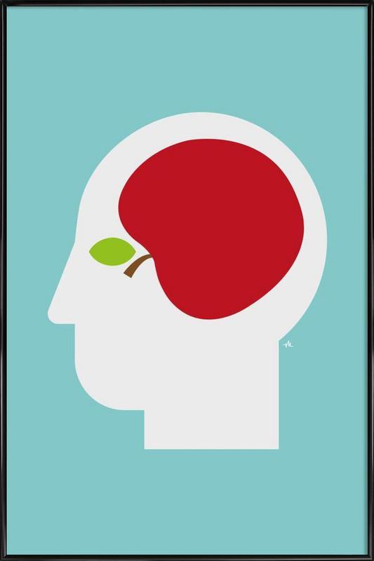 Apple head Framed Poster
