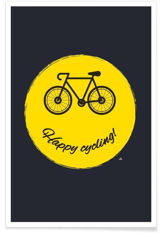 Happy cycling affiche