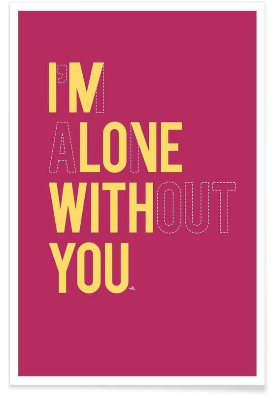 Quotes en slogans, In love with you poster