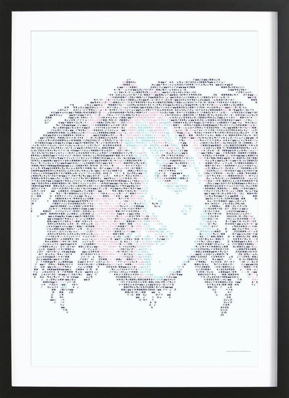 Bob ingelijste print