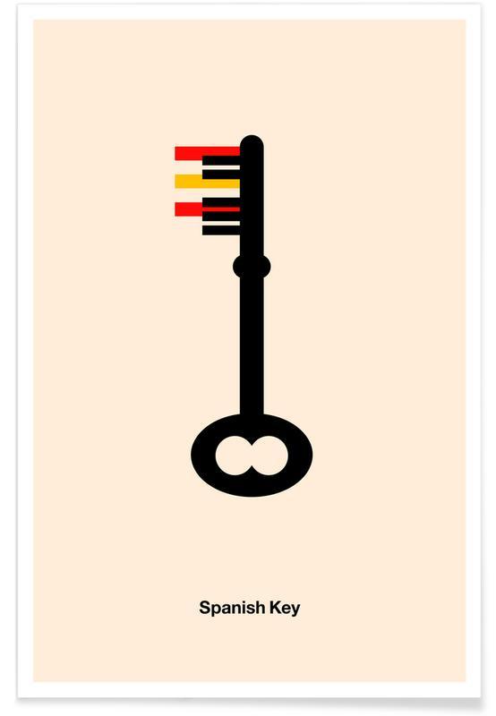 Jazz, Spanish Key -Poster