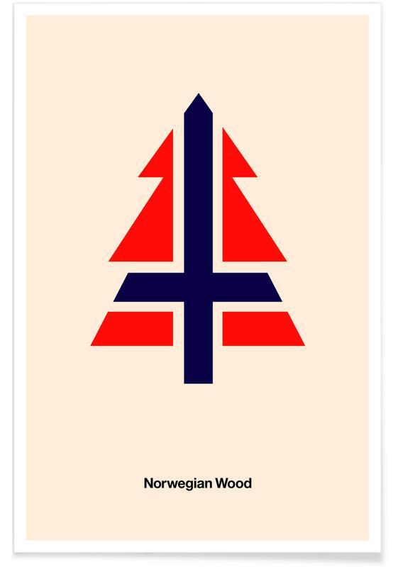 The Beatles, Norwegian Woods Poster