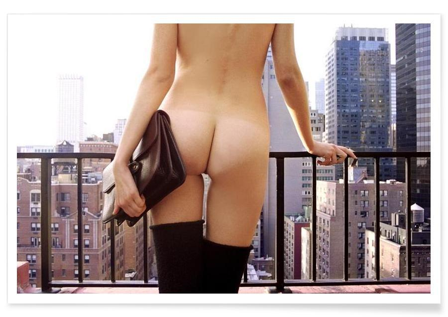 Naked in New York affiche