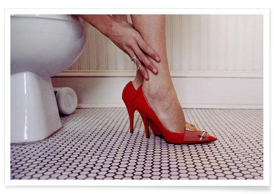 Détails corporels, Photos de mode, Louis Vuitton Red Shoe Blues affiche
