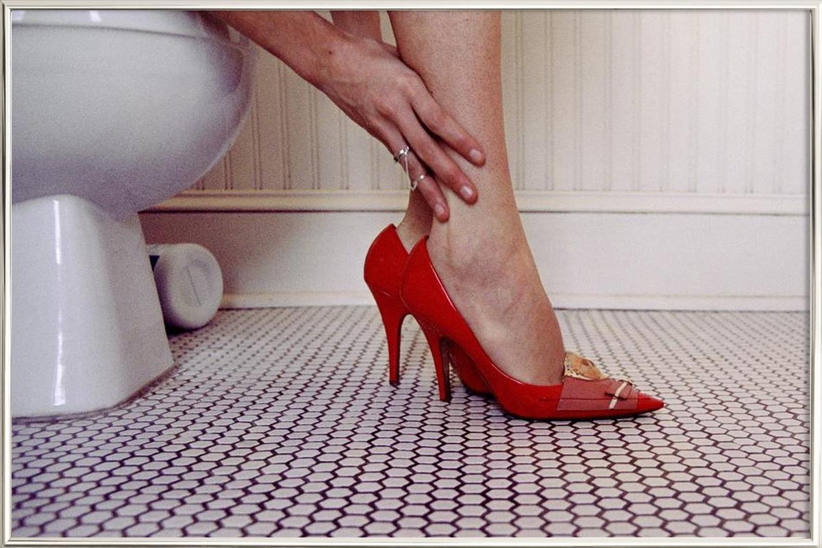 Louis Vuitton Red Shoe Blues -Poster im Alurahmen