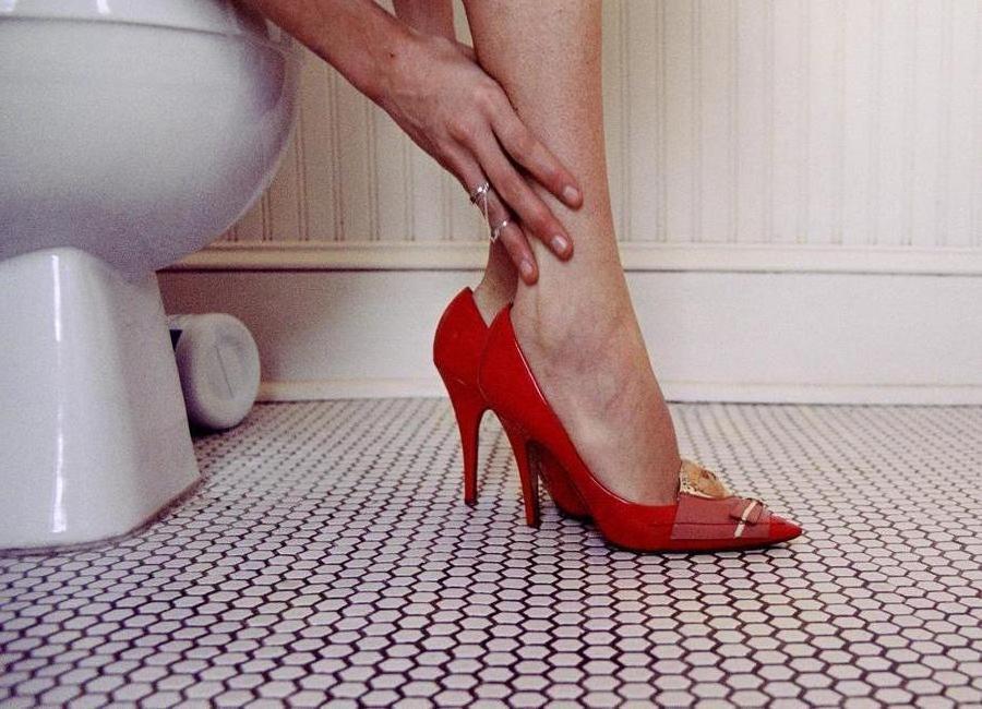 Louis Vuitton Red Shoe Blues toile