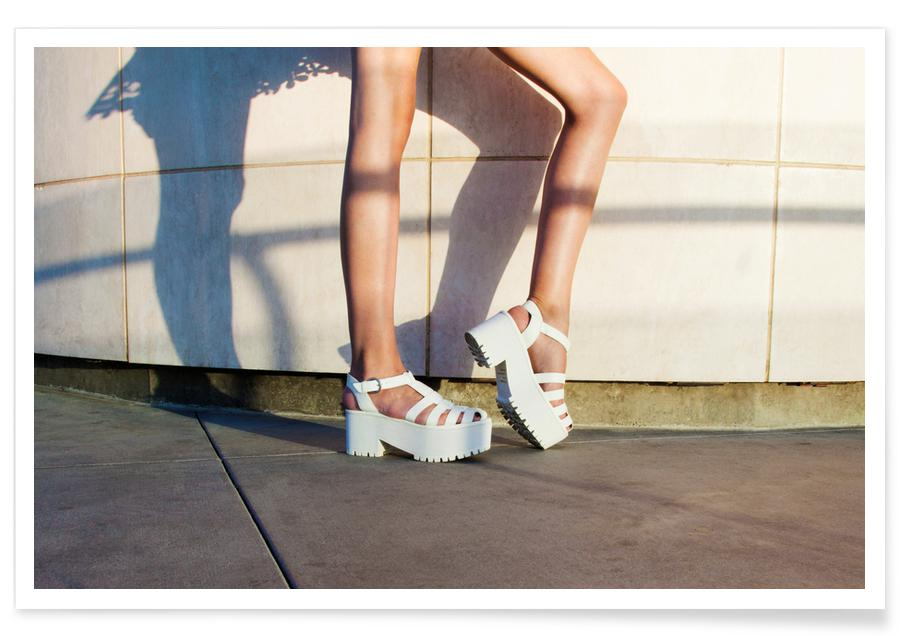Fashion Photography, Shadow Shoes Poster
