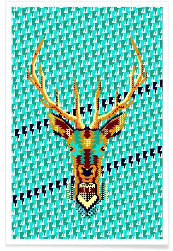 Geometric Deer poster