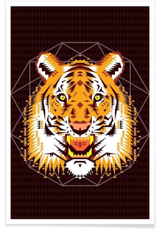 Geometric Tiger affiche