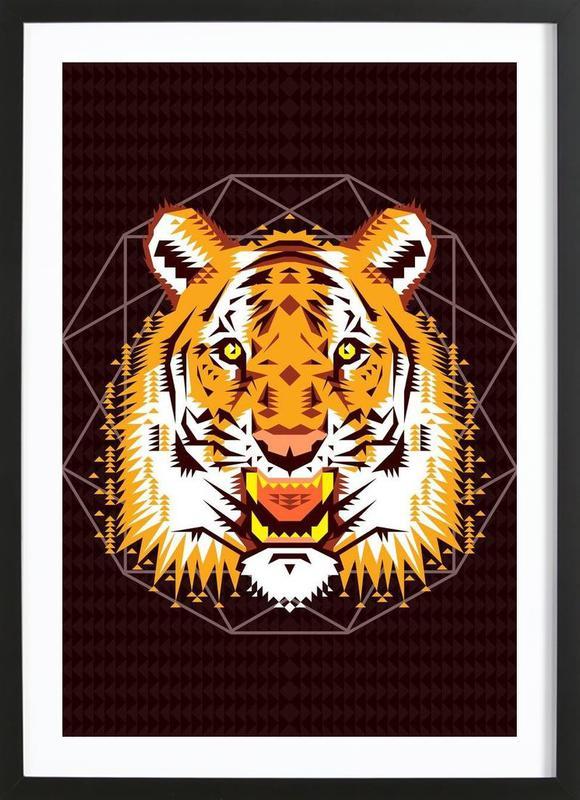 Geometric Tiger Framed Print
