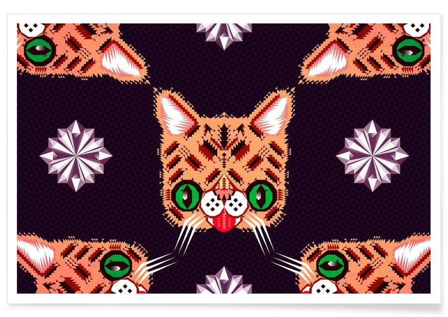 Chats, Lil Bub Pattern affiche