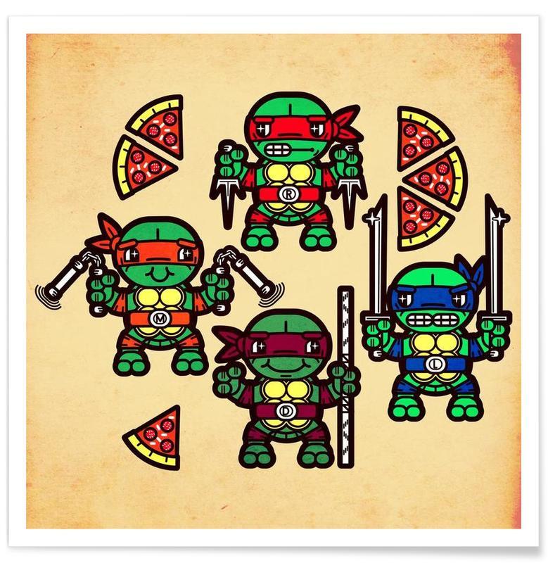 Art pour enfants, Pizza Party affiche