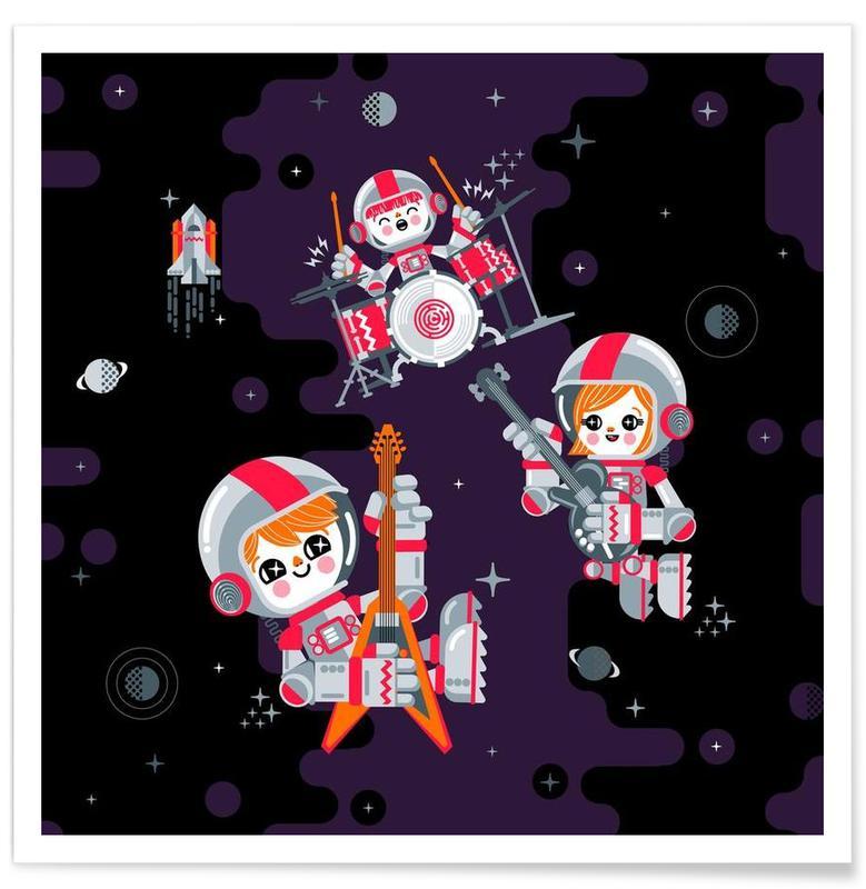 Art pour enfants, Space Rock affiche