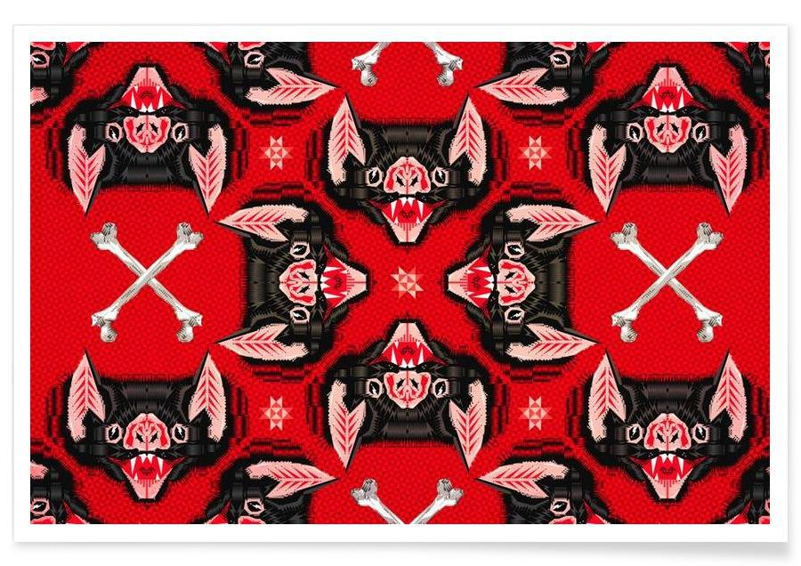 Batface Pattern poster