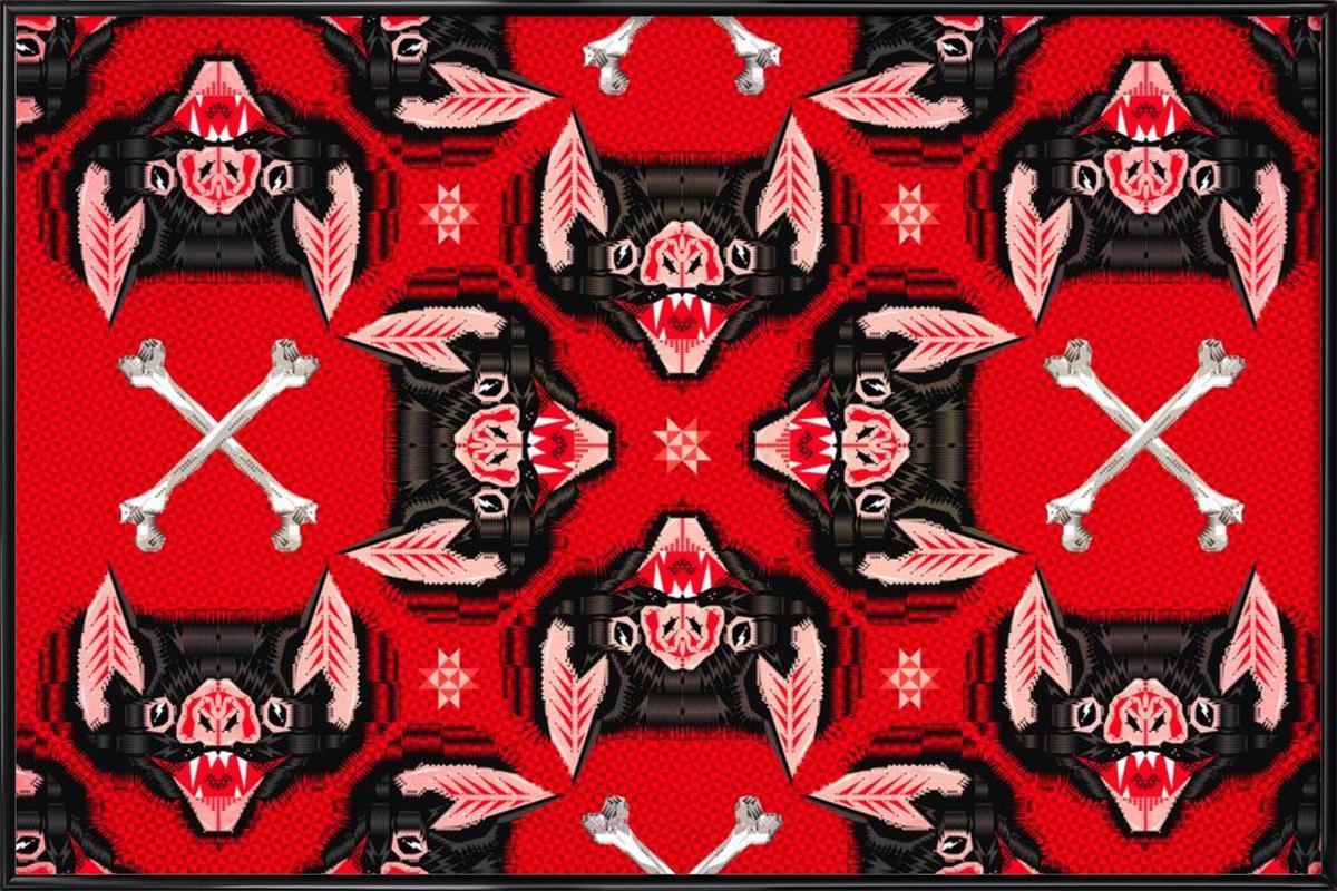 Batface Pattern ingelijste poster