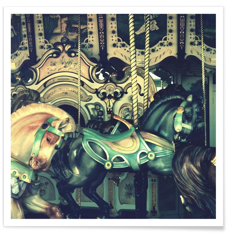 Architectural Details, Nursery & Art for Kids, Carousel Poster