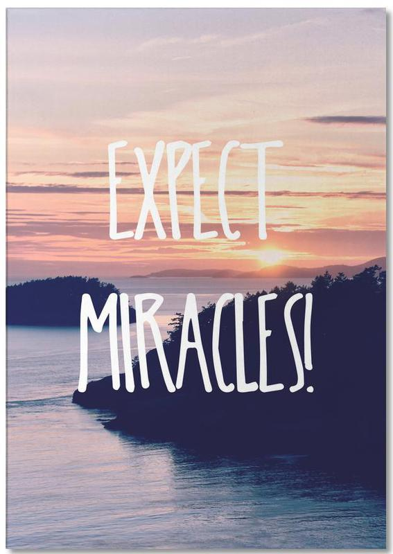Motivational, Expect Miracles Notepad