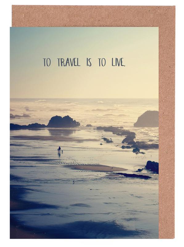 To Travel Is to Live -Grußkarten-Set